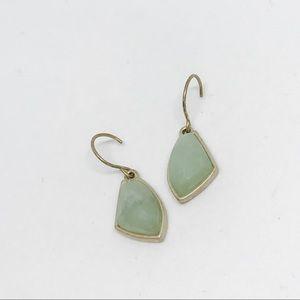 Gilded Reeds Aventurine Drop Earrings